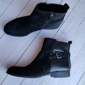 Franco sarto faux suede faux leather booties